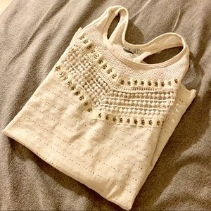 Paper Crane embroidered tank